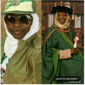 Check Out Female Corper Serving With Phd (Photos)